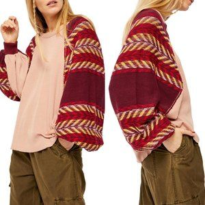 Free People Rainbow Dreams Batwing Sleeve Knit Top